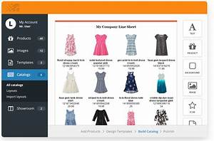 Create a line sheet with free templates catalog machine for Online product catalog template