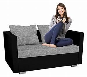 2er Sofa Mit Schlaffunktion : vcm 2er schlafsofa sofabett couch sofa mit schlaffunktion sinsa schwarz 60 x 122 x 78 cm ~ Bigdaddyawards.com Haus und Dekorationen