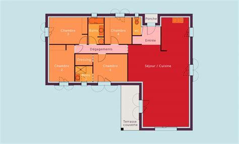 plans de maison plain pied 3 chambres plan de maison de plain pied 4 chambres quotes