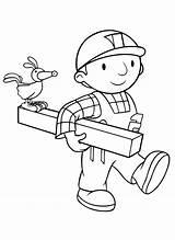 Bob Builder Coloring Handsome Forkids Builders Named Character sketch template
