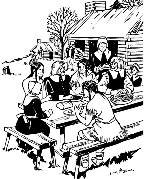 transmissionpress thanksgiving feast coloring pages