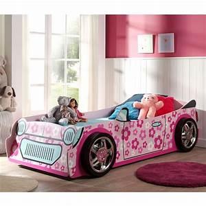 Lit Enfant Voiture : lit enfant voiture flowers rose ~ Preciouscoupons.com Idées de Décoration