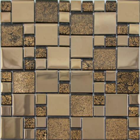 Crystal Glass Mosaic Tile Plated Metal Coating Tile