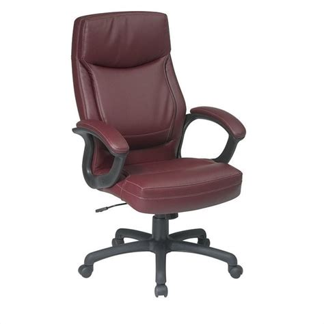 executive high back burgundy eco leather office chair