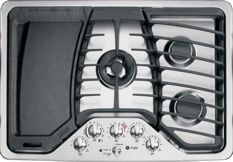pgpsetss ge profile series  built  gas cooktop stainless steel