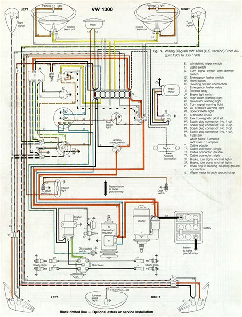 70 Vw Bug Wiring Diagram by Thesamba Type 1 Wiring Diagrams