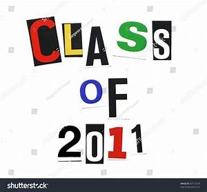 Class 2011 Written Mix Colorful Cutout Stock Photo 63713518