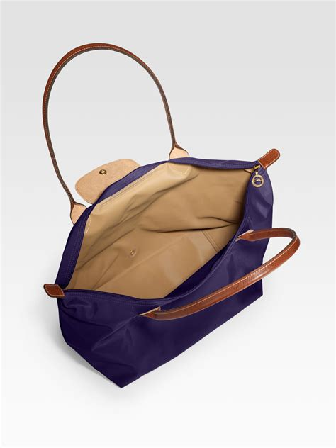 large bag lyst longch le pliage large tote bag in brown