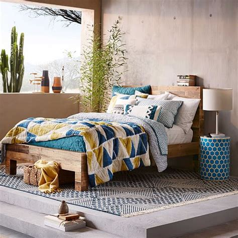 west elm emmerson bed emmerson 174 reclaimed wood bed west elm