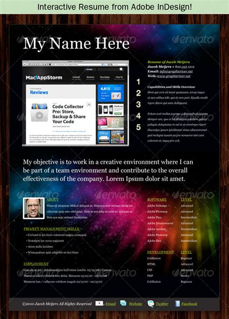 15 photoshop indesign cv resume templates photoshop
