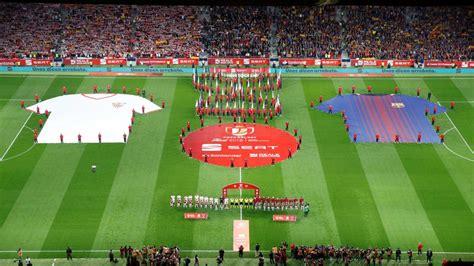 : Así se vivió el himno en la Copa del Rey