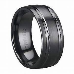 Mens ceramic wedding rings efficient navokalcom for Ceramic mens wedding rings
