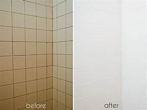 a bathroom tile makeoverwith paint ramshackle glam With can you paint over bathroom wall tiles