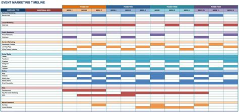 marketing timeline tips  templates smartsheet