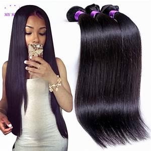 Unprocessed Brazilian Virgin Hair Straight 3 Bundles Ms ...