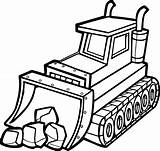 Bulldozer Coloring Getdrawings sketch template