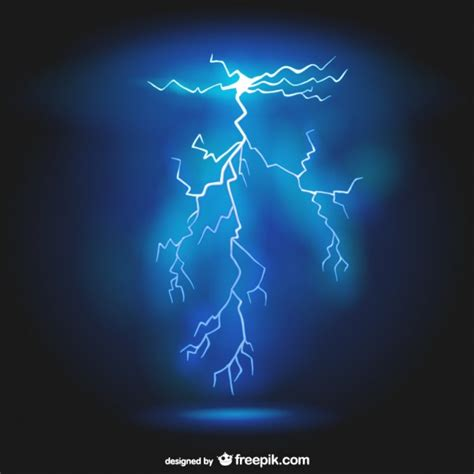 realistic lightning background vector free