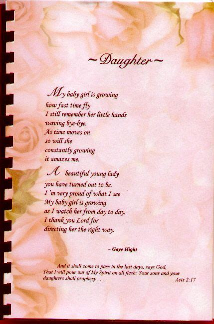 Mother's Day Poems From Mother to Daughter