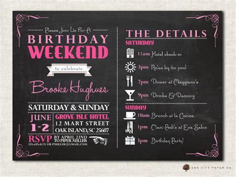 birthday itinerary templates  sample
