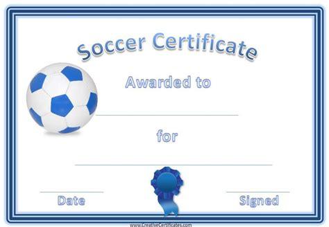 Printable Soccer Certificates Girls