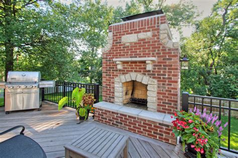 outdoor fireplace st louis 2 story outdoor fireplace transitional deck st louis by mosby building arts