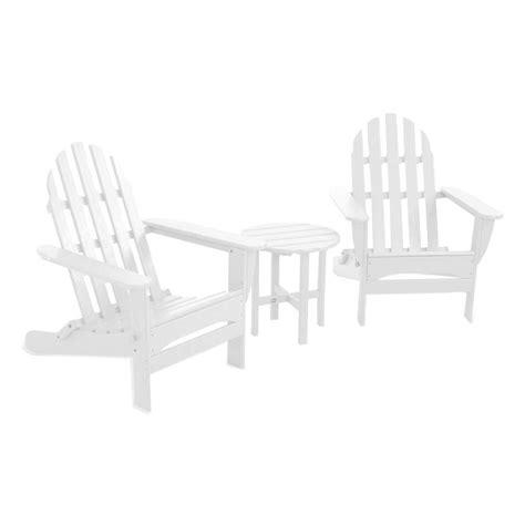 polywood classic folding white 3 adirondack patio