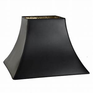 16, U0026quot, Black, Paper, Gold, Lining, Square, Bell, Lamp, Shade