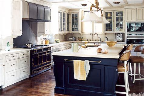 navy blue kitchen islands classic  trendy