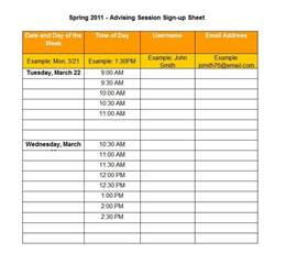 Best Excel Templates 40 Sign Up Sheet Sign In Sheet Templates Word Excel
