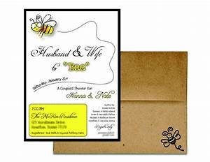 couples wedding shower invitation husband and wife to With wedding invitations cards for husband