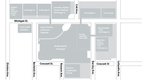 directions and parking meijer heart center spectrum health