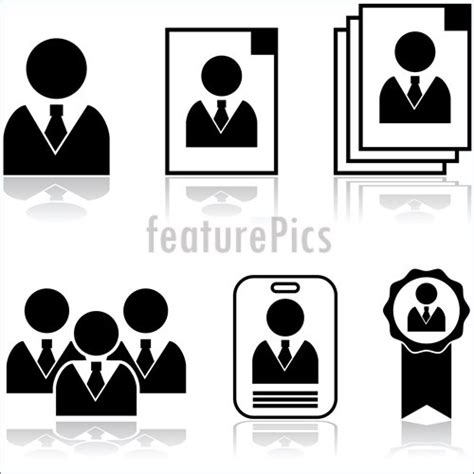 employee badges online office and close up new employee stock illustration