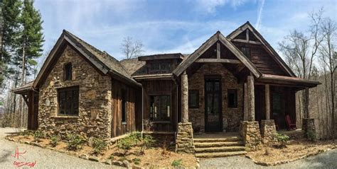 balsam mtn lodge house plan  ranch style rustic mountan