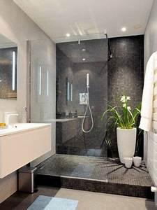 20 salles de bain design a la deco epuree et tendance With salle de bain design avec thermomètre mural décoratif