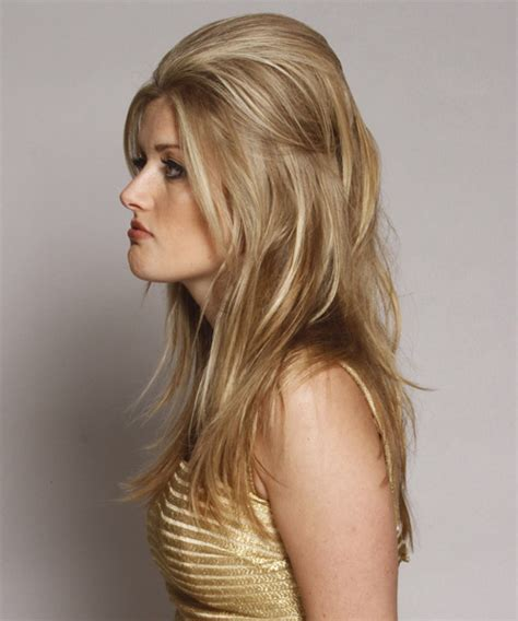 long straight golden blonde   hairstyle