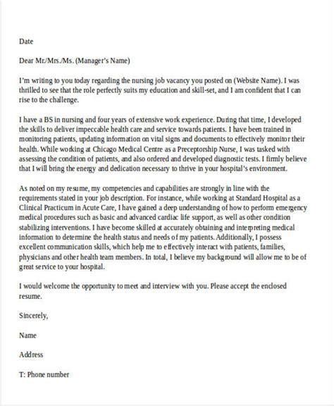 job application letters  nurse   word