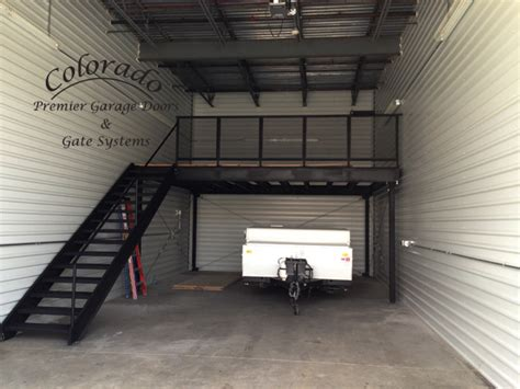 Custom Steel Garage Loft  Denver Garage Door Repair