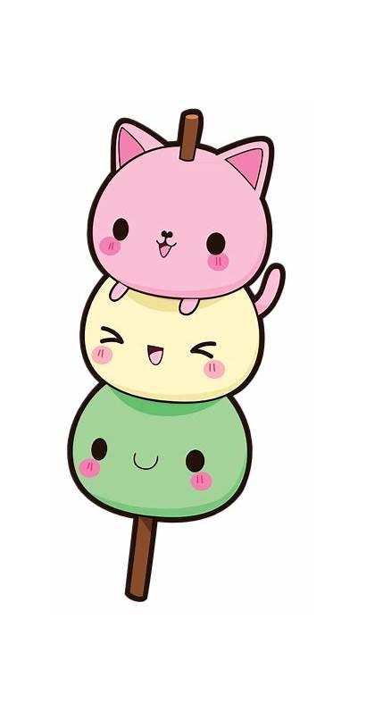 Cat Dango Kawaii Favim Via Kb
