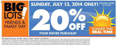 big lots 20 store coupon event mylitter one deal
