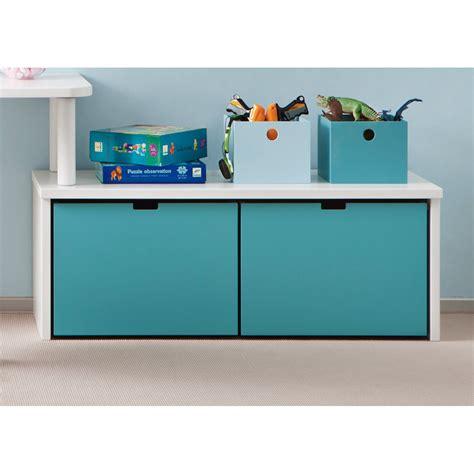meuble bas pour chambre meuble de rangement avec 2 grands caissons à