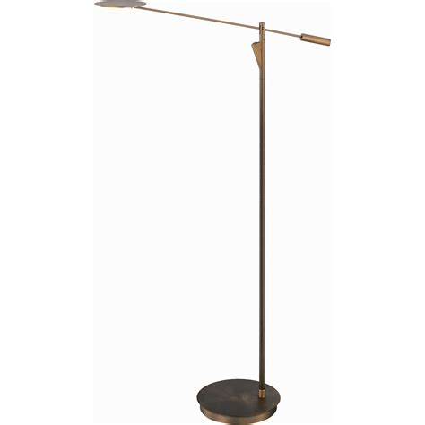 led torchiere floor l shop pyramid creations 58 in bronze led torchiere indoor