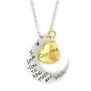 Grandma I Love You to the Moon and Back Necklace