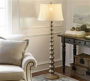 sherwood stacked floor lamp base pottery barn With wooden floor lamp pottery barn