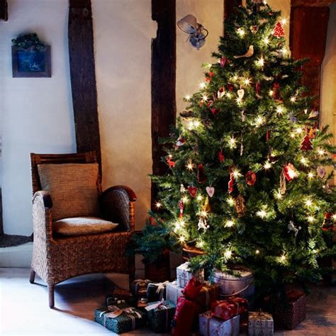 decorative christmas tree christmas country cottage