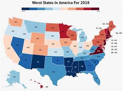 State Map Sinkhole Worst States America Washington