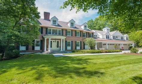 million colonial brick mansion  wellesley ma homes   rich
