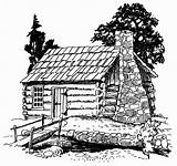 Coloring Pyrography Camping Cabin Patterns Drawing Books Adult Line Thoreau Burning Wood Printable Cabins Western 10cm Logs sketch template