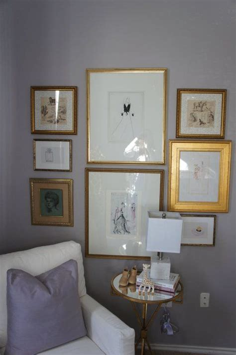 gray gold paint color grey walls gold frames the best