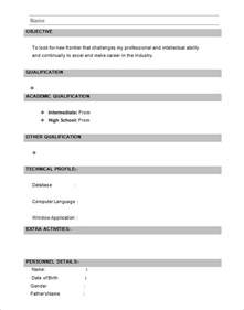 different resume formats for freshers 28 resume templates for freshers free sles exles formats free premium