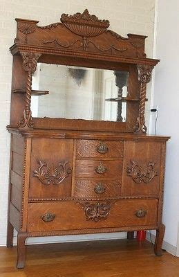 Antique Hutches And Sideboards by Antique Oak Hutch Highboy Cabinet Sideboard Buffet W